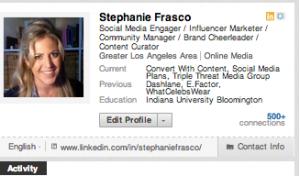 Stephanie Frasco LinkedIn Profile