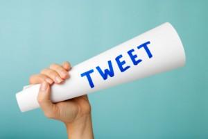 Tweet megaphone concept