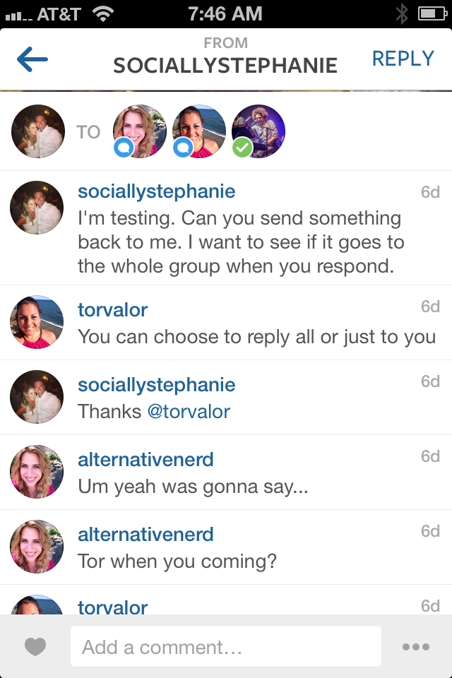 Group Reply Instagram Direct