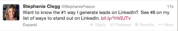 StephanieFrasco Twitter Example